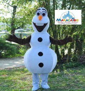 Mascotte Olaf Maracaibo professionale noleggio animazione bambini feste affitto affittare feste personaggi bambini