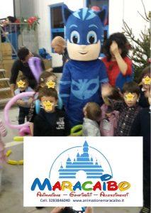 Mascotte professionale Pigiamini Pj Mask Gatto Boy noleggio animazione bambini feste